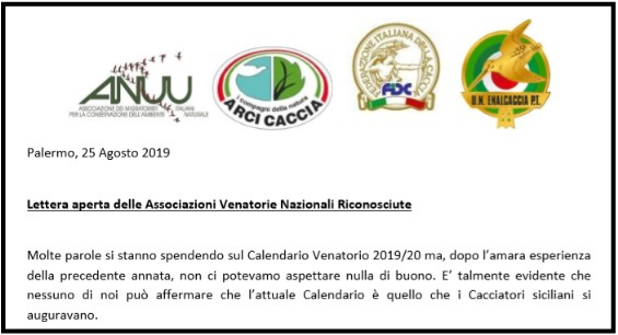 Calendario Venatorio 2020 Sicilia.Anuumigratoristi